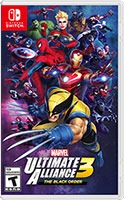 Marvel Ultimate Alliance 3 box art for Nintendo Switch